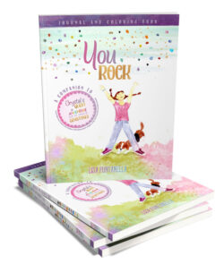 A fun and inspirational children's journal complete with doodle pages, coloring pages and lined journal pages. Each journal page has encouraging quotes with writing prompts on topics such as mindfulness, self-acceptance, and acceptance of others, sharing, doing what you love, feelings and emotions. For ages 6 and up.