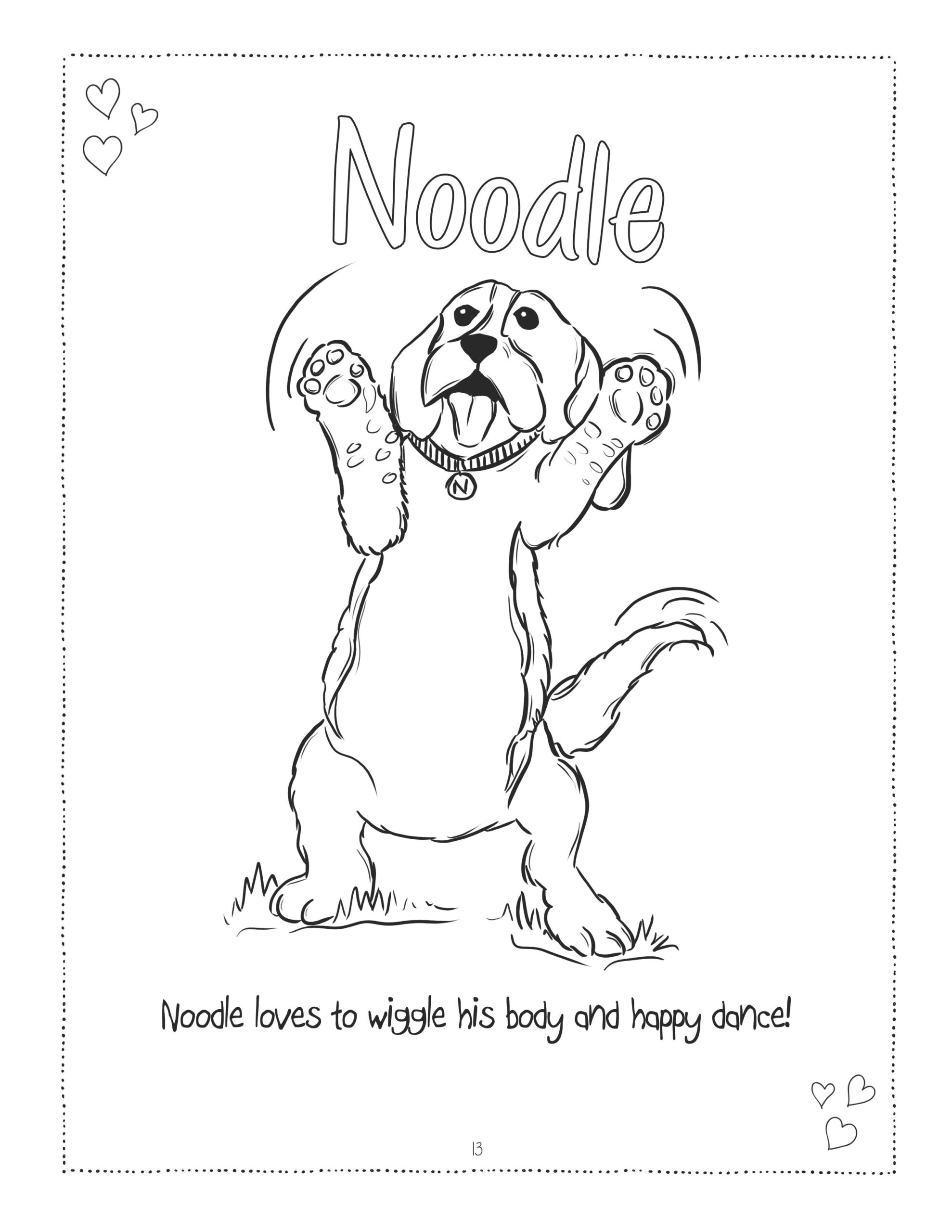 Noodle Coloring Page JPG